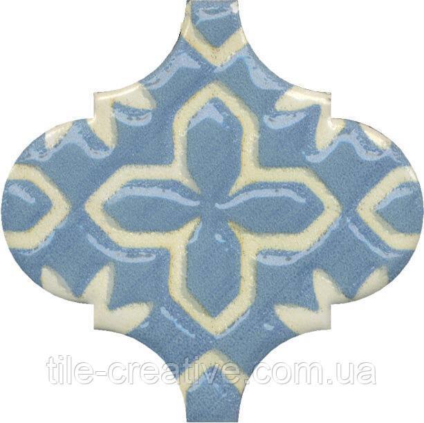 Керамическая плитка Декор Арабески Майолика орнамент6,5x6,5x7 OS\A37\65000