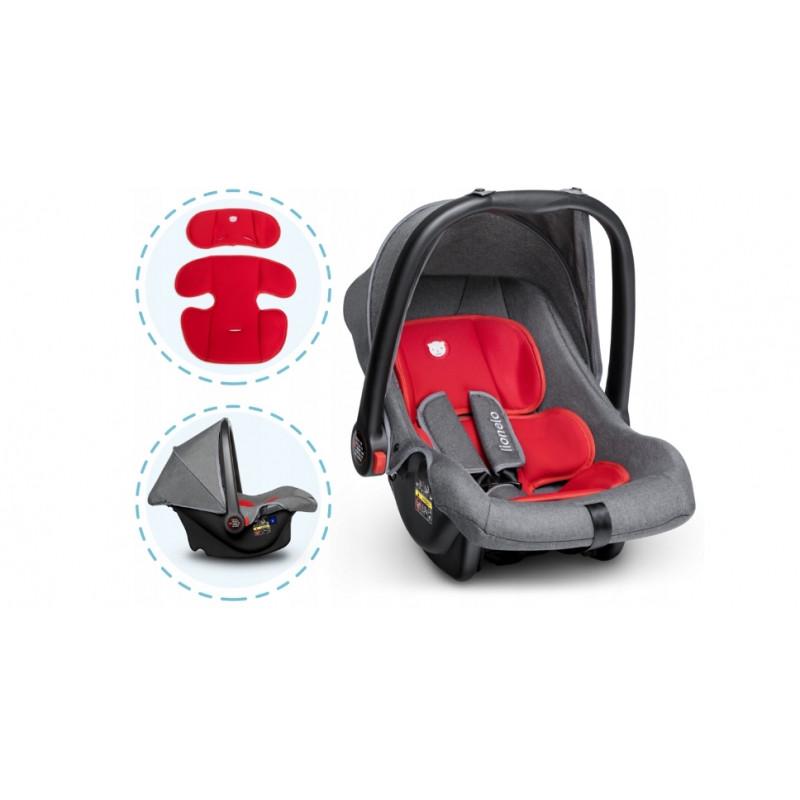 Детское автокресло LIONELO NOA PLUS 0-13кг. Цвет серо-красный