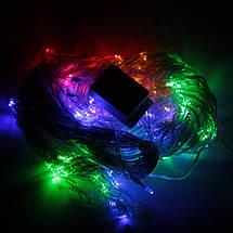 Декор Светодиодная Гирлянда Водопад Дождь Штора Занавес ЛЕД Мутьтицвет RGB 3х3м 320LED От 220В С Переходником, фото 3
