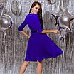 Платье женское с кожаным поясом Батал Электрик, фото 7