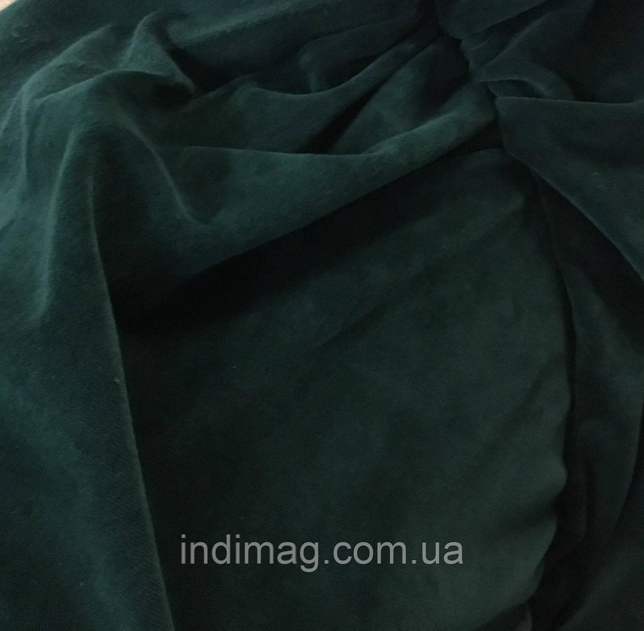 Велюр хлопковый  изумрудный зелёный ринг