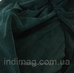 Велюр хлопковый  изумрудный зелёный пенье