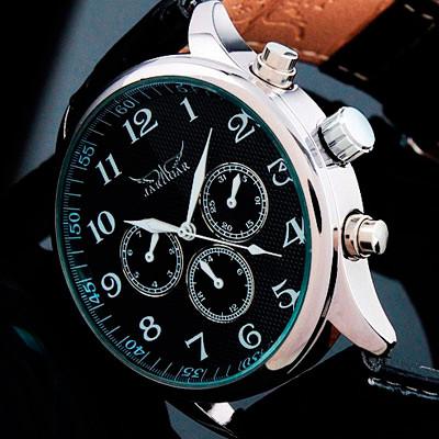 Jaragar Мужские классические механические часы Jaragar Elite Black 1013