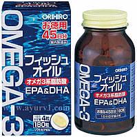 Омега 3, рыбий жир / Orihiro Omega3 Fish Oil / Япония / 180 капсул