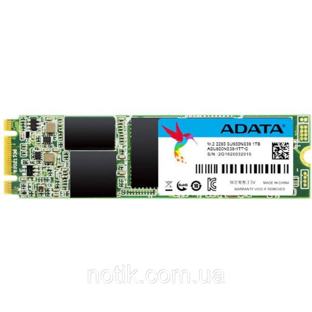 Твердотельный накопитель M.2 1Tb, A-Data Ultimate SU800, SATA3, 3D TLC, 560/520 MB/s (ASU800NS38-1TT-C)