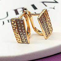 Серьги позолоченные Xuping, мед золото