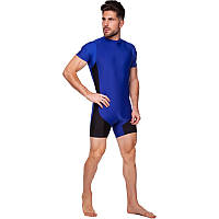 Трико для борьбы и тяжелой атлетики, пауэрлифтинга (синий, бифлекс, р-р XL-4XL (RUS 46-54)