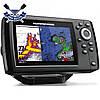 Двухлучевой эхолот картплоттер HUMMINBIRD HELIX 5 Chirp GPS G2 поддержка карт и слот д/карты памяти, до 450 м, фото 2