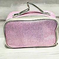 Косметичка-сундук блестящая розовая, фото 1