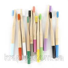 Натуральная деревянная зубная щетка бамбуковая, натуральна дерев'яна зубна щітка бамбукова
