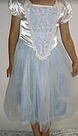 Карнавальный новогодний костюм платье Снежинка Принцесса на 5-6 лет