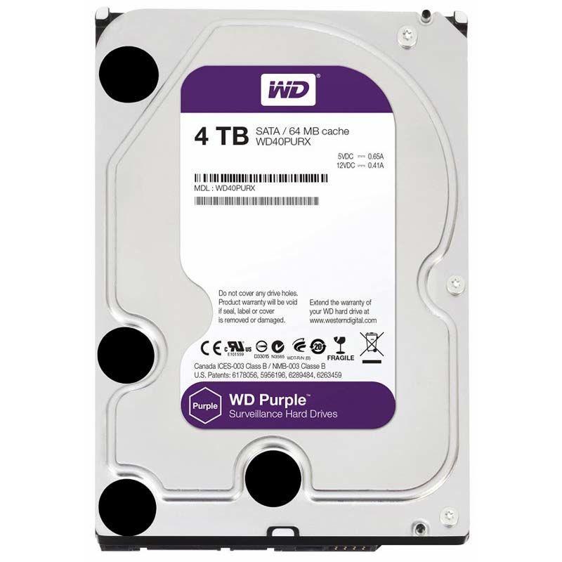 Жесткий диск Western Digital Purple 4TB 64MB WD40PURX