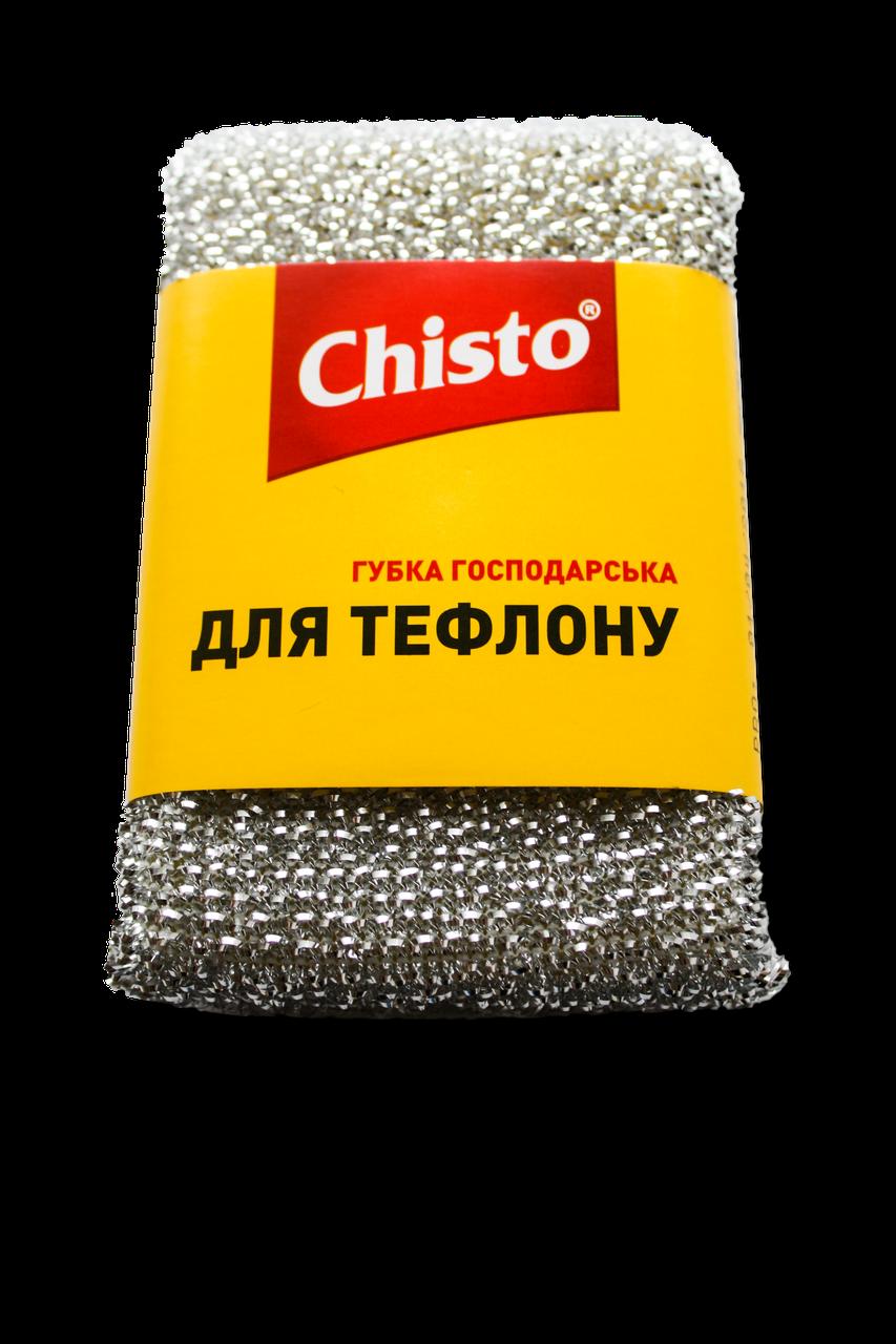 Губка-скребок д/тефлону 1шт Chisto
