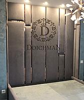 Мягкие стеновые панели с металлическими вставками