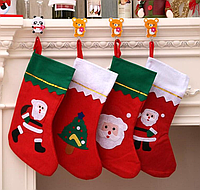 Рождественский носок для подарков 36см