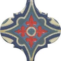 Керамическая плитка Декор Арабески Майолика орнамент6,5x6,5x7 OS\A29\65000