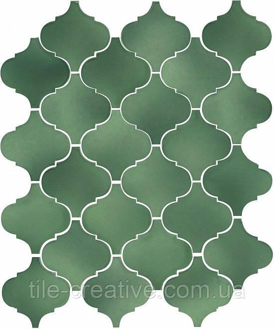 Керамическая плитка Арабески Майолика зеленый26x30x7 65008