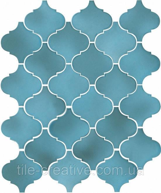 Керамическая плитка Арабески Майолика голубой26x30x7 65005