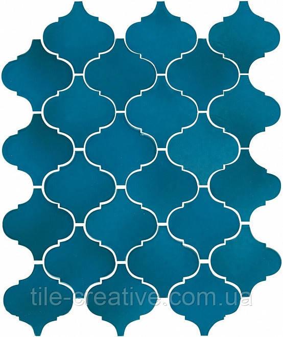Керамическая плитка Арабески Майолика синий26x30x7 65007