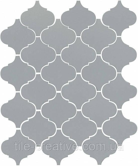 Керамическая плитка Арабески глянцевый серый26x30x7 65012