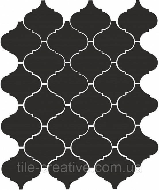 Керамическая плитка Арабески глянцевый черный26x30x7 65001