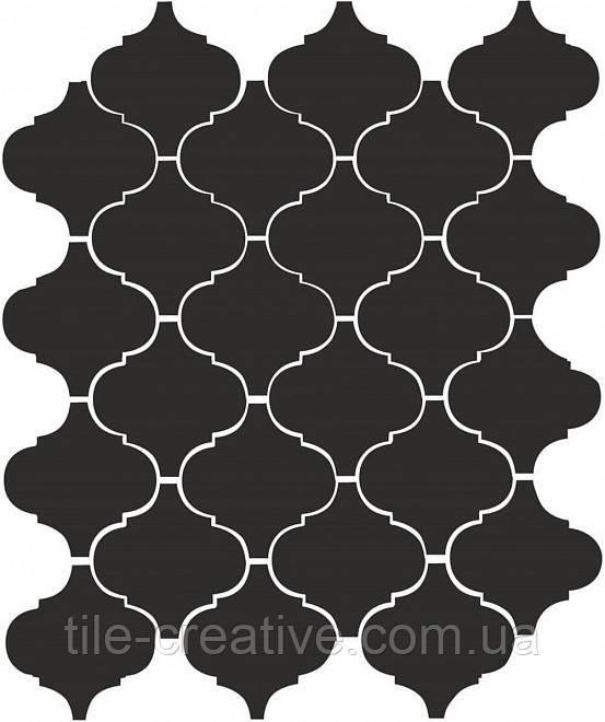 Керамічна плитка Арабески глянцевий черный26х30х7 65001