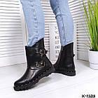 Женские зимние ботинки в черном цвете из натуральной кожи, фото 6