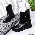 Женские зимние ботинки в черном цвете из натуральной кожи, фото 7