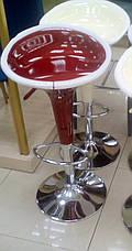 Стул барный AS-101 akh (SIGNAL PL- Стул барный пластиковый хокер A-148), красный, фото 2