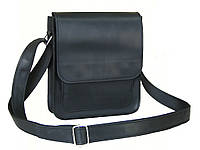 Мужская кожаная сумка GS черная