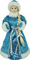 """Новогодняя фигура """"Снегурочка в голубой шубе"""", высота 33 см"""
