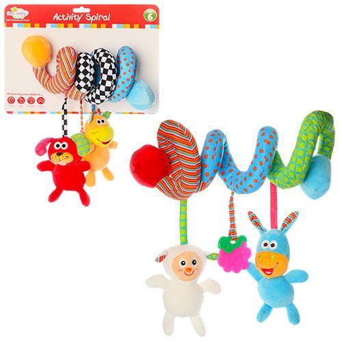 Плюшевая подвеска на коляску FP-018 пищалка игрушка детская