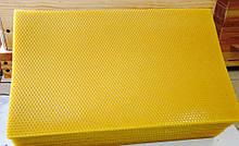 Вощина прополюсованая Боярка рамка Рута 190*410мм