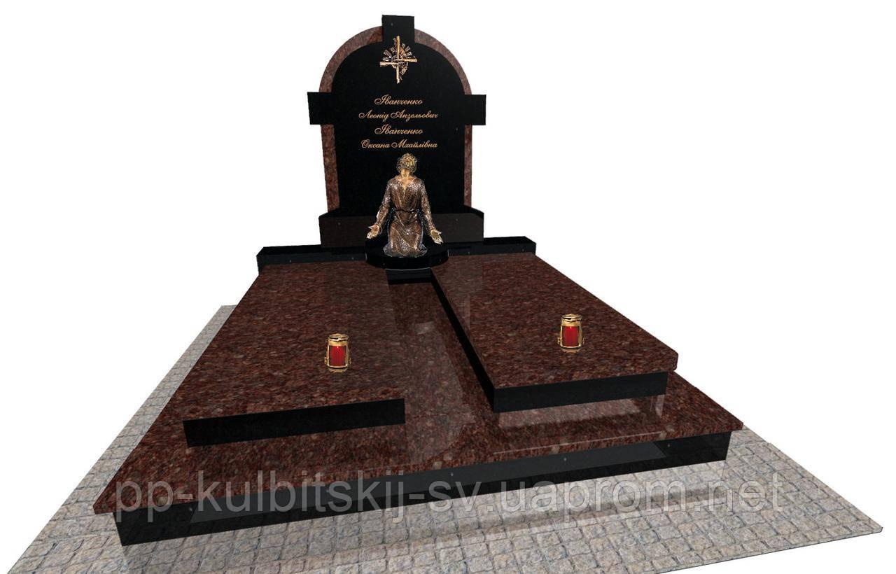 Ексклюзивний подвійний пам'ятник з Токівського гранітуЕ0201