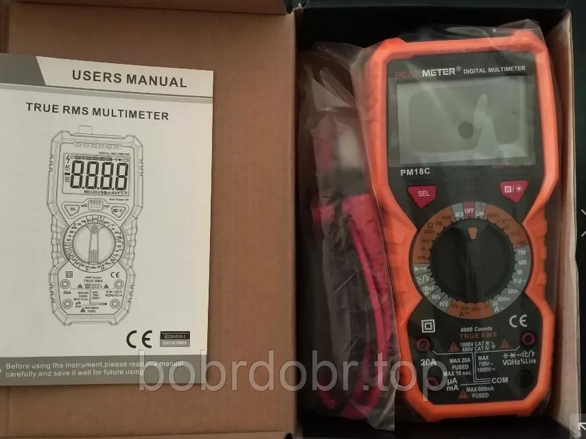 Цифровой мультиметр Peakmeter PM18C (NCV - поиск проводки)