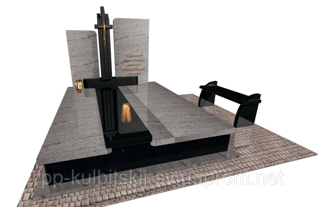 Пам'ятник гранітний Елітний подвійний Е0204