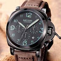 Megir Мужские классические кварцевые часы Megir Luminor VIP 1079