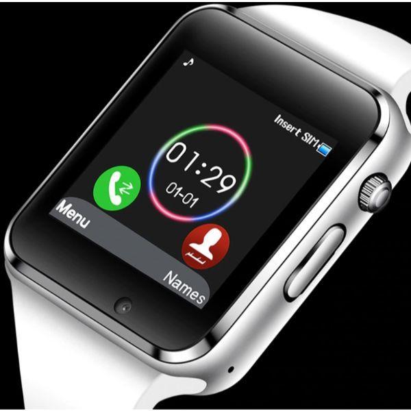 UWatch Умные смарт часы с сим-картой 2018 года Smart A1 Turbo 5016 White