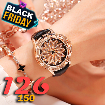 [ОПТ] Роскошные женские часы с вращающимся циферблатом