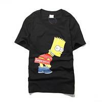 Футболка в стиле SUPREME Bart Simpson | Футболка Суприм Барт Симпсон №5