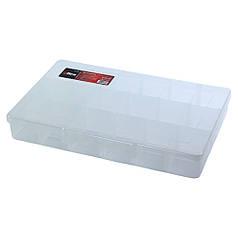 Органайзер пластиковый прозрачный 18 отсеков 310×200×50мм ULTRA (7417082)