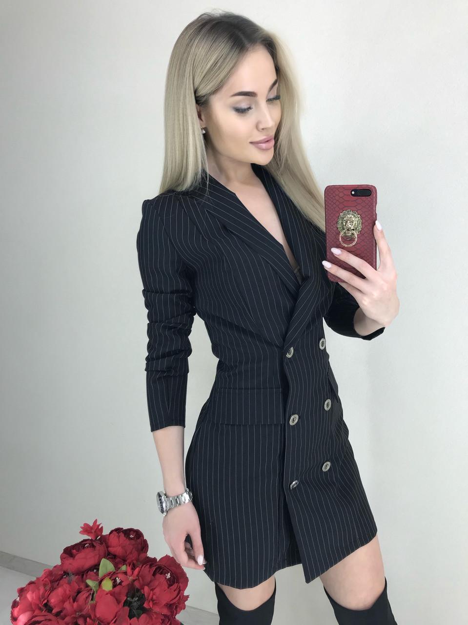 Платье-пиджак в полоску