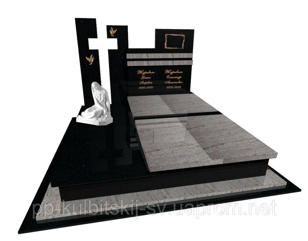 Пам'ятник з граніту Елітний подвійний Е0210