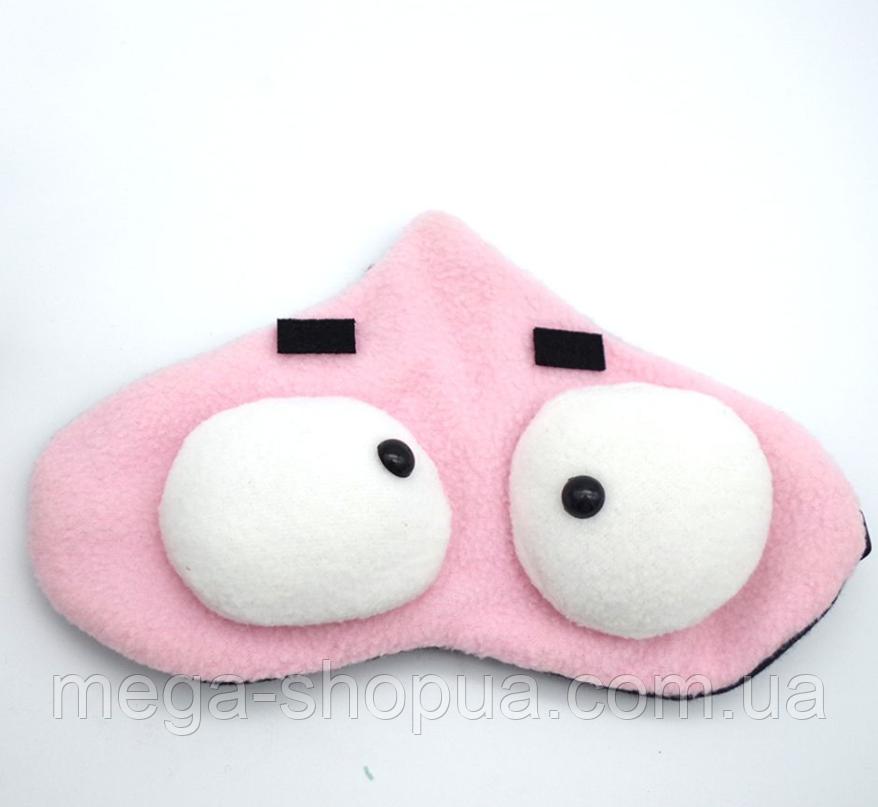 """Маска для сна с милыми мордашками """"Big Eyes - Pink"""". Удобная и милая маска для сна."""