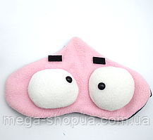 """Маска для сна и отдыха """"Big Eyes - Pink"""". Повязка для сна и релакса. Ночная маска для сна. Маска для сну"""