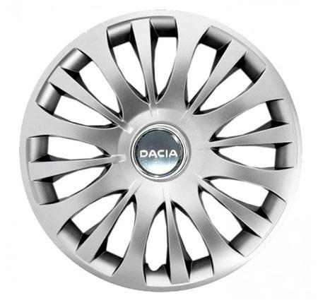 """Колпаки для колес 15"""" c логотипом автомобиля 4 шт (SKS 329) Дачия"""