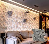 """Гипсовая 3d панель для стен """"Гравий"""" (декоративная стеновая 3д панель), фото 1"""