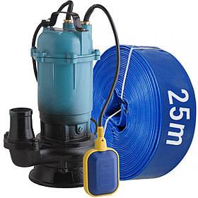 Фекальный насос с измельчителем + шланг 25м DELTA WQD чугунный корпус