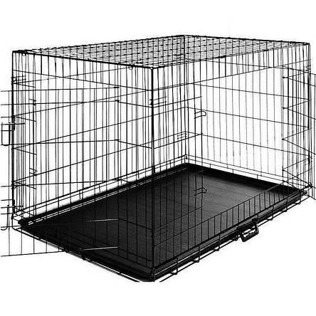 Металлическая клетка переноска для собак Dog carrier XL 108x70x77, фото 2
