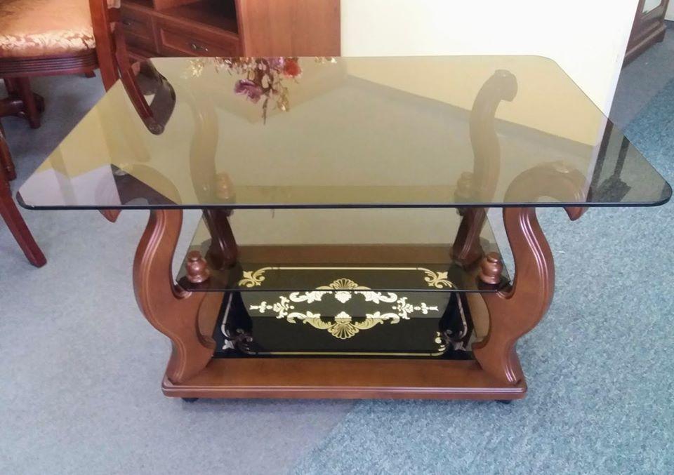 Стеклянный журнальный столик на колесиках ДС-15 Шедевр Антоник, цвет на выбор